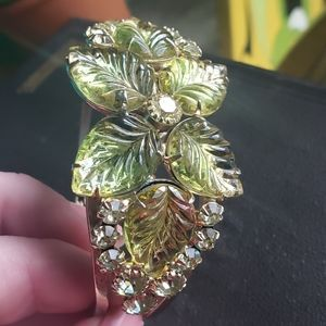 Vintage Moulded Glass Hinge Bracelet